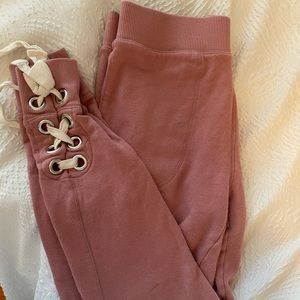 Pink Free People Joggers